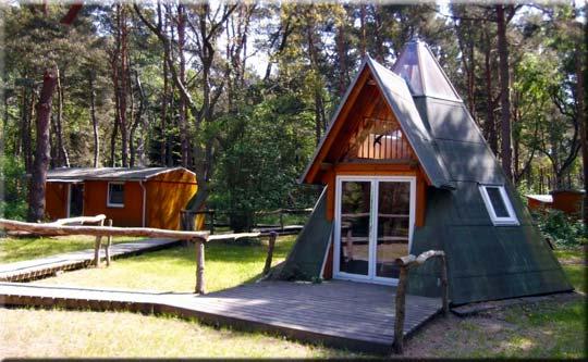 Außergewöhnliches Ferienhaus auf Rügen ... Im Stil eines Tipi - im Ferienpark Heidehof zu finden!